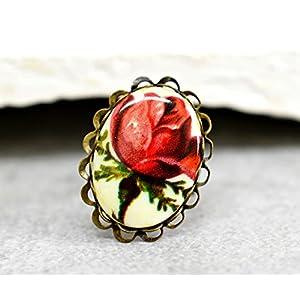 Vintage Rose Bronze Ring