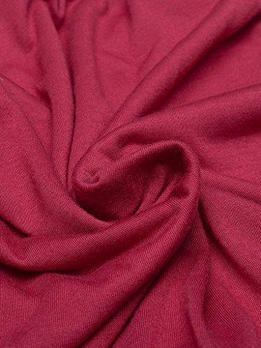 Blooming Jelly Damen Schulterfrei Spitze Tops Aufflackern-Hülsen-Hemd Rot