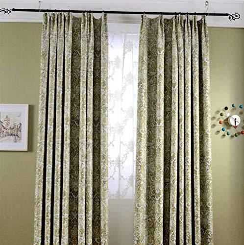 ZQNGJA Wohnzimmer Vorhang Schattierung Druck Isolierung super weichen Vorhang 150cmx267cm (Breite x Höhe) 2 Panel gelb - Panel-grüne Vorhänge Zwei