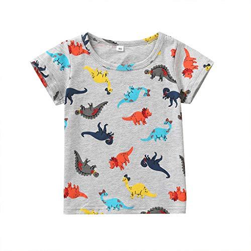 wuayi  Baby T-Shirt, Baby Jungen Mädchen Kurzarm Dinosaurier Print T-Shirt Tops Kleidung Outfit 9 Monate - 5 Jahre -