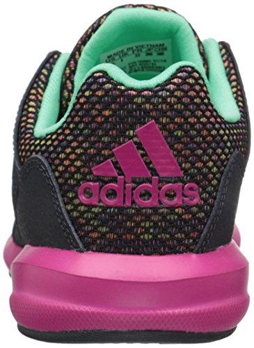 adidas Unisex, bambini Adidas S-flex K scarpe sportive Dark Grey/Pink/Green Glow