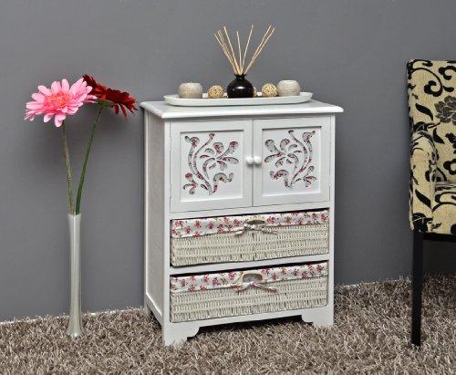 Country House Dresser disimpegno mobiletto del bagno 60 x 73 cm Mensola credenza con legno decorazione intaglio - 7