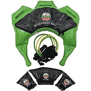 Suples Bulgarische Tasche – Strong Fit Modell (Grün, S, 17-26 lbs, Synthetikleder) The Original bulgarische Bag Creator – Crossfit, Sandsack, Trainingstasche, Gewichtstasche