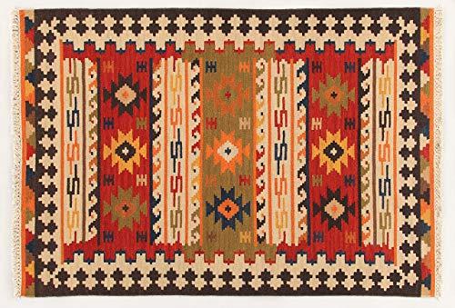 Kilim Carpets by Jalal Alfombra Kilim Sivas 2 Rojo/Multicolor