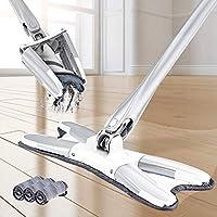 X-Type Flat Floor Mop Microfiber Spray Mop for Floor Cleaning - Upgrade Accessories, Hardwood Floor Dust Mop,Manual Extrusion Household Floor Mop Pad