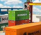Faller FA 180821 - 20 Container Evergreen, Zubehör für die Modelleisenbahn, Modellbau