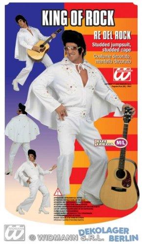 WIDMANN Elvis Kostüm weiss mit goldenen Juwelen Größe ()