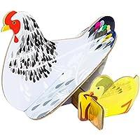 Studioroof Biglietto di auguri Gallina e pulcini, 3D in cartoncino riciclato, da montare
