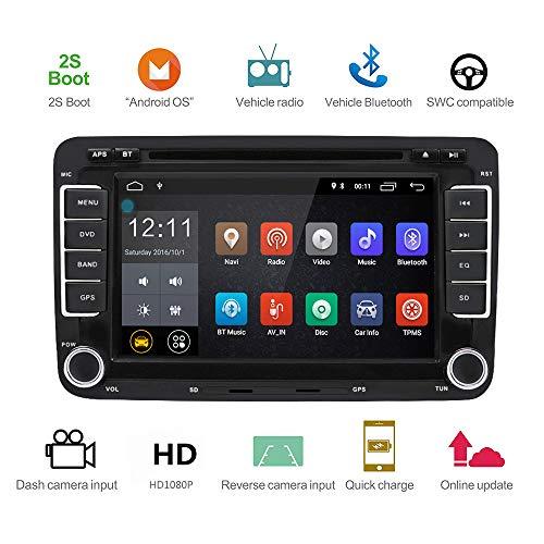 Podofo Android 7.1 Autoradio pour Volkswagen / Passat / Seat / Skoda Canbus Autoradio Double Din 7 \