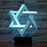 Etoile de David nouveauté lampe décoration de la maison atmosphère lampe enfant...