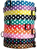 Yellow Dog Design Polka Dot Hund Halsband – mit tag-a-long ID Tag System – Grape