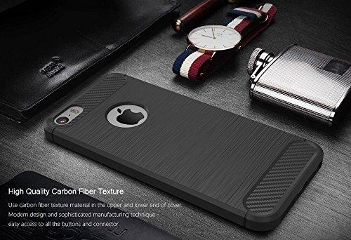 Custodia iPhone 6S / 6 Nero , ivencase Lusso Cover Schlank TPU Silicone Case Custodia Shock-Absorption Bumper e Anti-Scratch Back per iPhone 6S / 6 4.7 gray