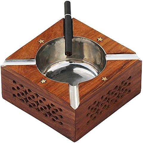 artículo en venta - Ceniceros de decoración para el hogar decorativos, madera, Diameter - 4 Inches