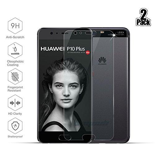 [2 Stück] Huawei P10 Plus Schutzfolie, Beyeah Panzerglas Displayschutzfolie [9H Härte] [Anti-Kratzen] [Anti-Öl] [Anti-Bläschen] [lebenslange Garantie]