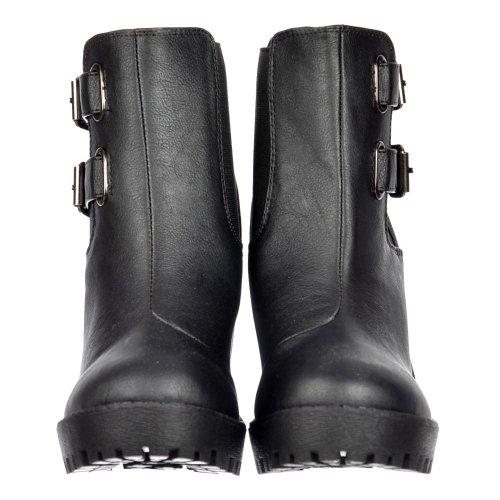 Heel Onlineshoe Rihanna donna elasticizzati lati Fibbie Chelsea Boot Nero