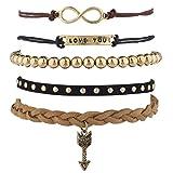 Themes Best Deals - Lux Accessoires Boho Thème Love You Best Friends Forever Bras de Candy Lot (5)