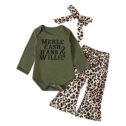 Leoparden-print-hose Im Set (Realde--Baby Mädchen Langarm-Body im+Leopard Drucken Lange Hosen+Stirnband Set Mode Kleinkind Neugeborenes Kinderkleidung Partykleid Festlich Babybekleidung Abendkleid Kleidung)
