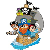 Sticker enfant and Pirate Ship Height 30cm