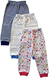 #5: NammaBaby Cotton Ribbed Hem Pajama - Set OF 3 (Multicolour, 3-4 Years)