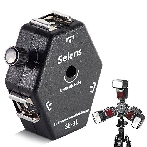 Selens Flexible Universal 3-Way Flash Montaje Montura