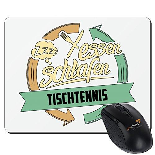 getshirts - RAHMENLOS® Geschenke - Mousepad - Sport Tischtennis - weiss uni