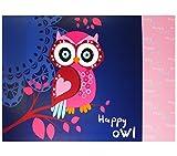 Eule Owl SCHREIBTISCHUNTERLAGE SCHREIBUNTERLAGE TISCHUNTERLAGE UNTERLAGE + Sticker von kids4shop