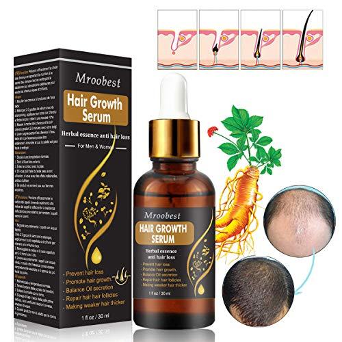 Haarwachstum Serum, Haarserum, Haarwachstum Beschleunigen, Hair Serum für haarwachstum, Anti Haarausfall für dünnes Haar, Verdickung & Nachwachsen Behandlung gegen Haarausfall Haarwurzeln stärken