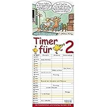 Timer für 2  2017: Familientimer mit Ferienterminen und Vorschau bis März 2018