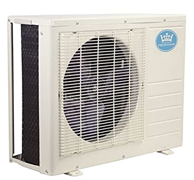 Prem-I-Air 18000 BTU Per Hour Easy Fit Wall Mounted Air Conditioner with Heat Pump Exterior Unit Condenser.