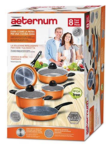 Aeternum Bialetti Batteria induzione Simplicity arancione pz 8 - 00AGD510
