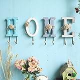 zahu.gshi Home Zubehör_Home Amerikanische kreative Kleiderhaken Persönlichkeit Kleiderhaken an der Wand hängende Garderobe Dekoration aus Holz Haken, Haken (eine Gruppe)