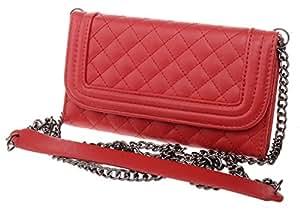 iPhone 6 Plus Case, Boilfish iPhone 6 Plus (5.5) Flip Case [Should Chain Series] [Wallet] - Leather Case for iPhone 6 Plus (5.5) - Mirror (PULPC-T-001)iPhone 6 Plus(5.5in) Red