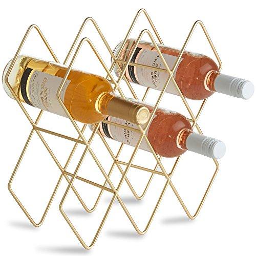 VonShef Weinregal/Halter/Aufbewahrung/Flaschenständer für 8 Weinflaschen - Metall gebürstetes...