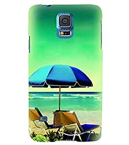 Printvisa Beach Relaxation Pic Back Case Cover for Samsung Galaxy S5 Mini::Samsung Galaxy S5 Mini G800F