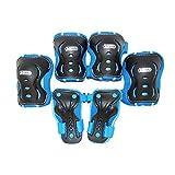 Best Sporting Schützer Set HQ, Kinder Knie-, Ellenbogen- und Handrückenschützer, Größe XS/S M, Farbe:blau/schwarz, Größe:XS/S