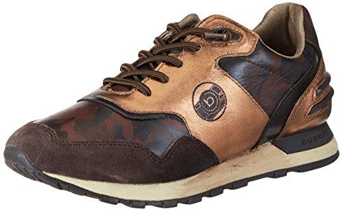 Bugatti Damen 422285011419 Sneaker Braun (marrone Scuro / Metallizzato)