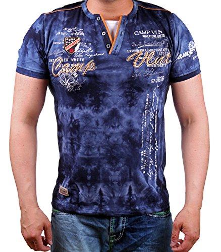 T-Shirt Camp Vlnt | LG-003 (5XL-Slim, Navy) (Camp-t-shirt-designs)