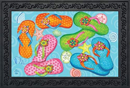 Briarwood Lane Summer Flip Flops Fußmatte Muscheln für drinnen und draußen, 45,7 x 76,2 cm