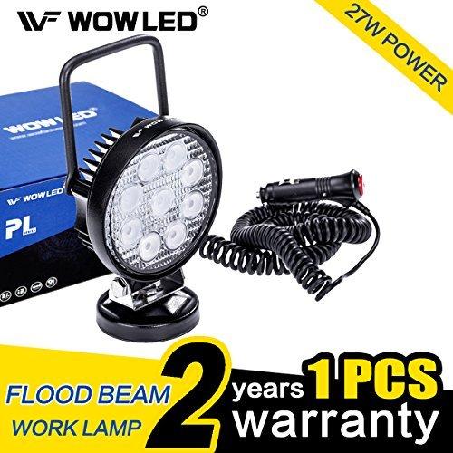 Wowled portátil 27W LED luz trabajo foco