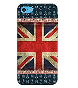 PrintDhaba UK Flag D-3063 Back Case Cover for APPLE IPHONE 5C (Multi-Coloured)