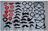 38pcs On A Stick Mustache Photo Booth Props Wedding Birthday Party Fun Favor Dec