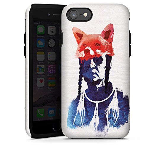 Apple iPhone X Silikon Hülle Case Schutzhülle Fuchs Bunt Art Tough Case glänzend
