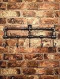Garden Mile® Rohrleitung im Vintage-Stil, Silber, Metall, Garderobenhalter, für Vorraum, Badezimmer