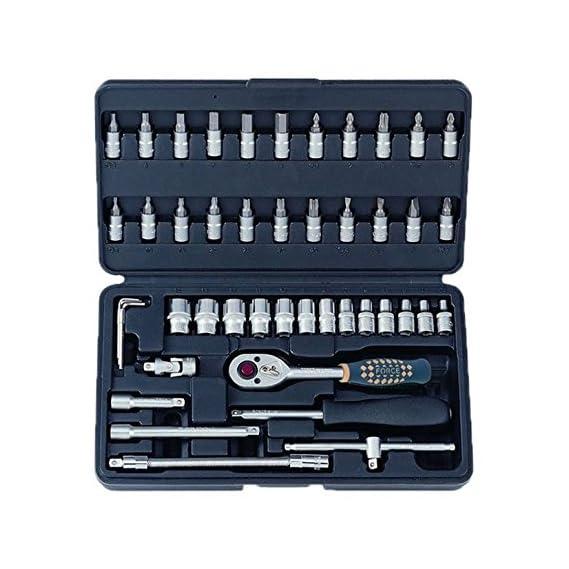 Force 2462 Socket Combination Set DIY Repair Tool Kit (Blue, 46-Pieces)