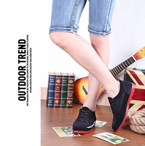 Uomini Traspirante Piatto Scarpe Comfort Vulcanized Scarpe Britannico Moda Casuale Scarpe Da Merletto Black