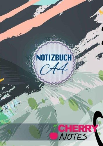 Notizbuch A4: Notizbuch | Notebook | Blankobuch | Format DIN A4 - 152 freie Seiten - Leer / Liniert- Weiß- Inklusive Register  Index  - Original Cherry Notes Notizbuch | Design Hawaii Style