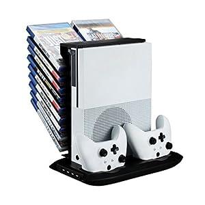 CyberKit Professioneller Lüfter Kühler + Ladegerät + Disc-Rack-Set für XBOX ONE