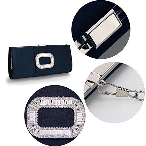 Pochette In Tessuto Sparkly Diamante Pochette Da Sera Per La Sposa Da Sposa 00221 (pochette In Cristallo Nero) Pochette In Cristallo Blu Scuro