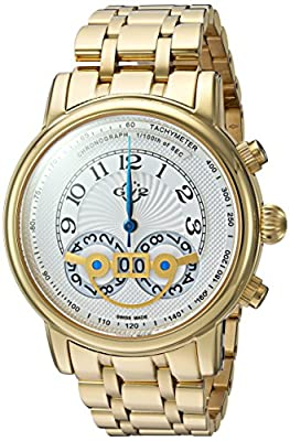 GV2 by Gevril Mens Analogue Quartz Watch with Stainless-Steel Strap 8102B