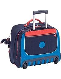 Kipling - CLAS DALLIN - Sac à dos à roulettes - Blue Orange Bl - (Bleu)